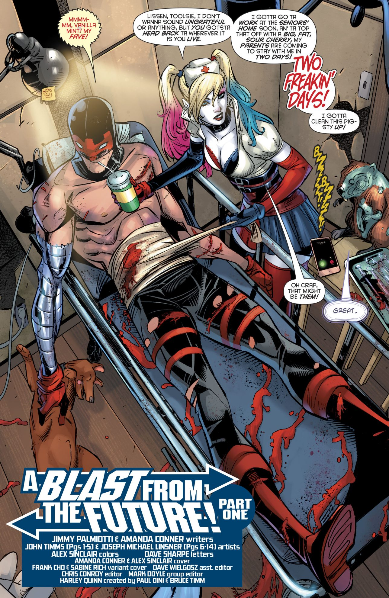 Harley Quinn Playing Nurse To Red Tool