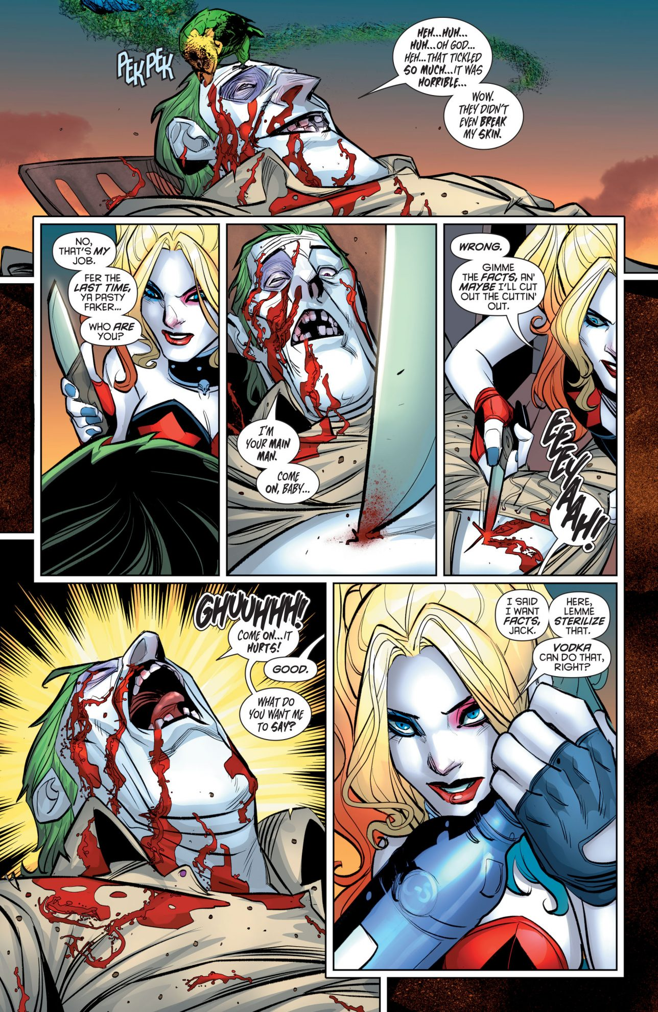 Harley Quinn Tortures The Joker (Rebirth)