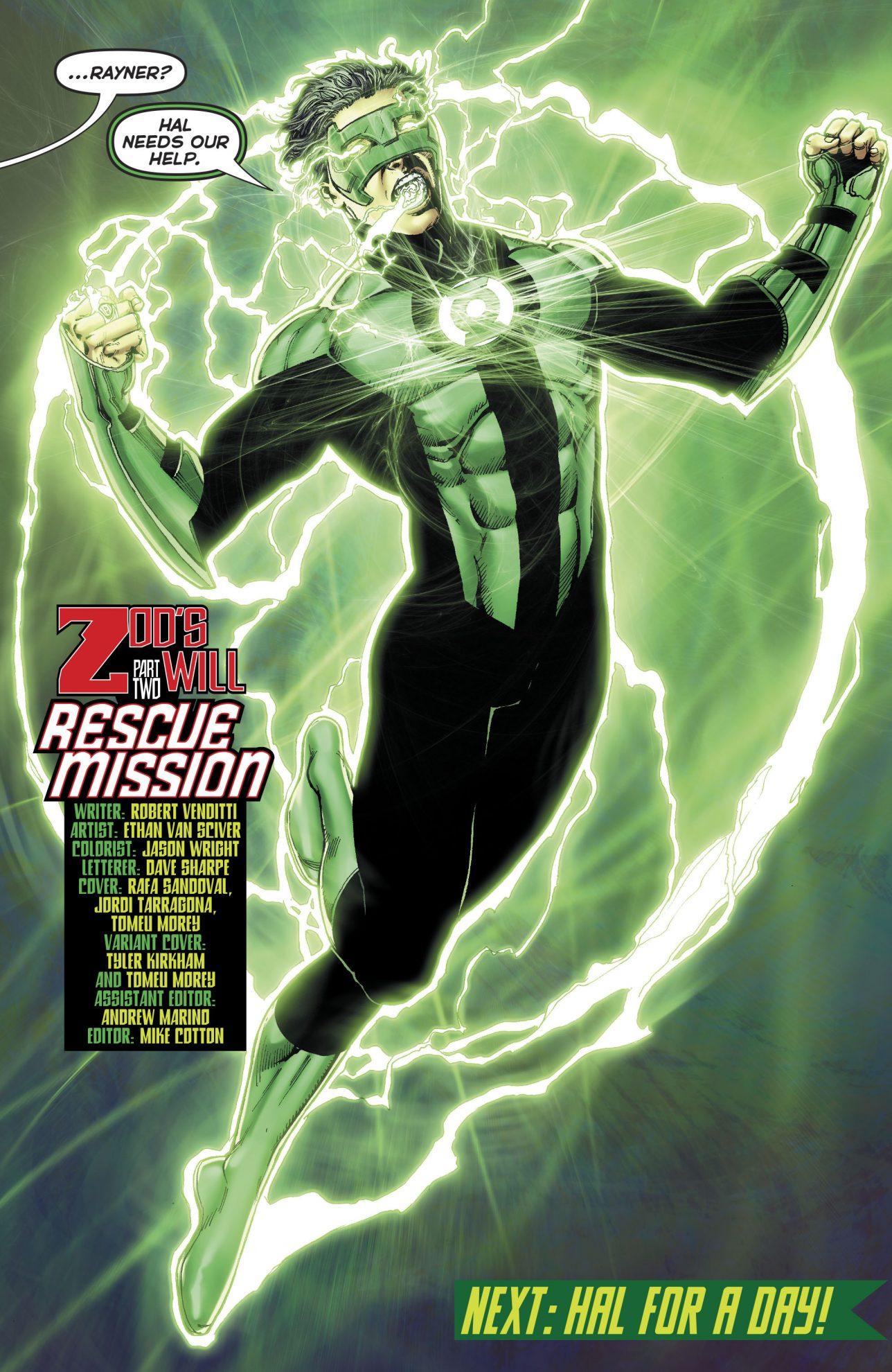 Kyle Rayner Wears Hal Jordan's Ring