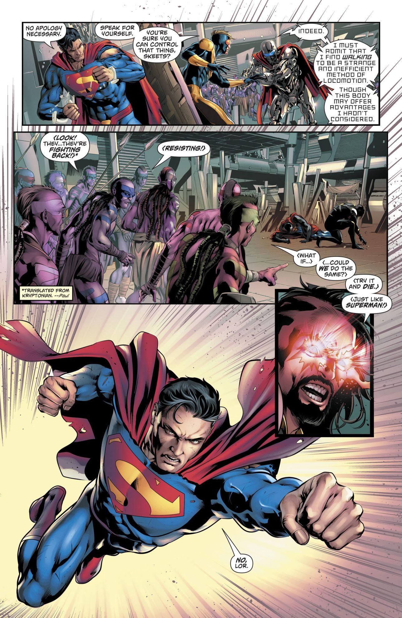 Superman Sees His Kryptonian Mother Die (Rebirth)