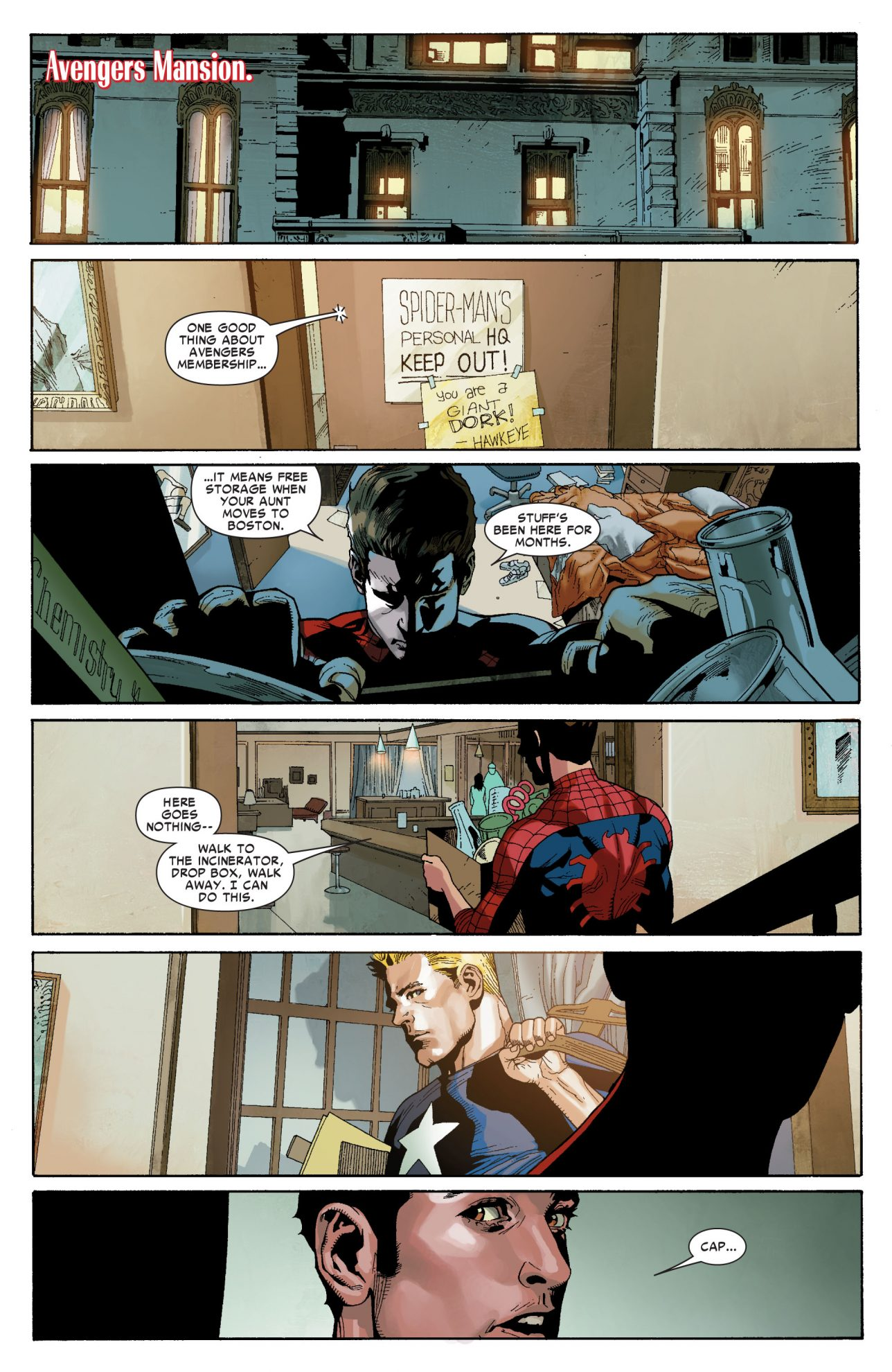 Spider-Man And Captain America Drawing Comics