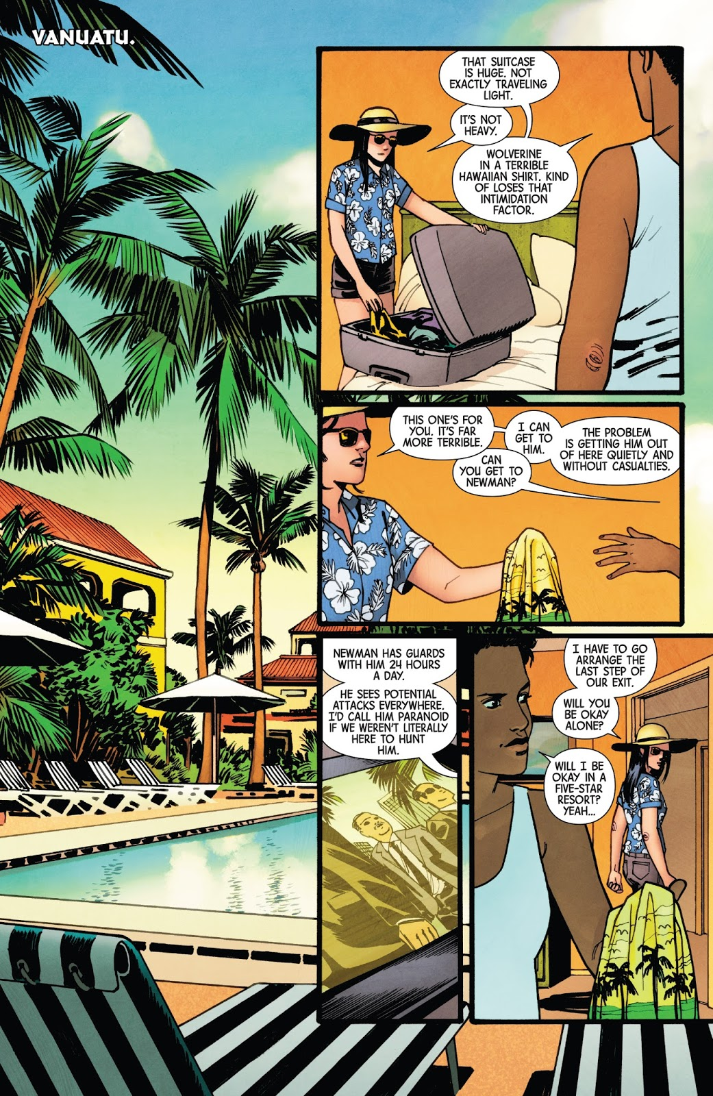 All New Wolverine In A Terrible Hawaiian Shirt