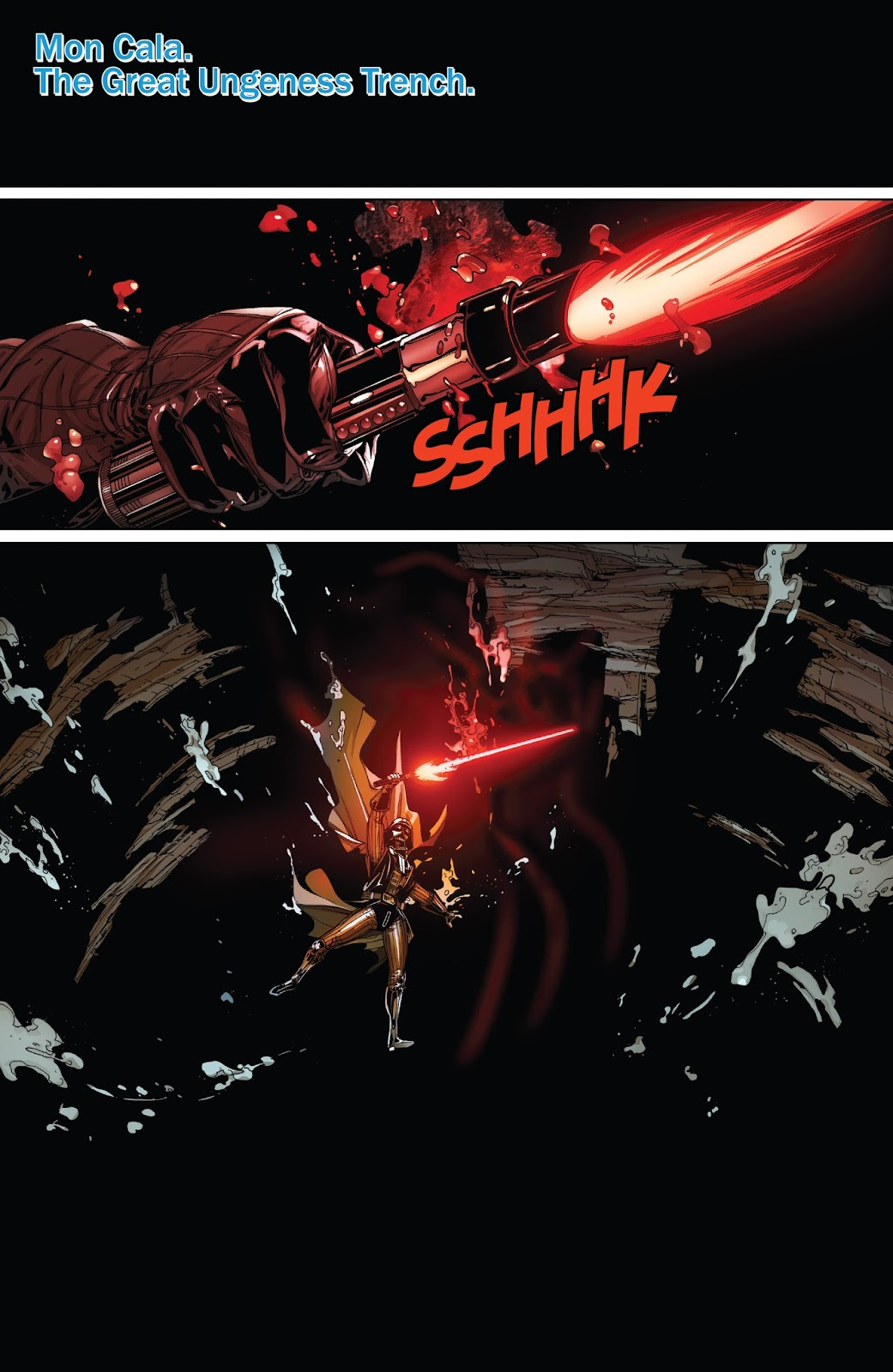 Darth Vader VS A Giant Squid