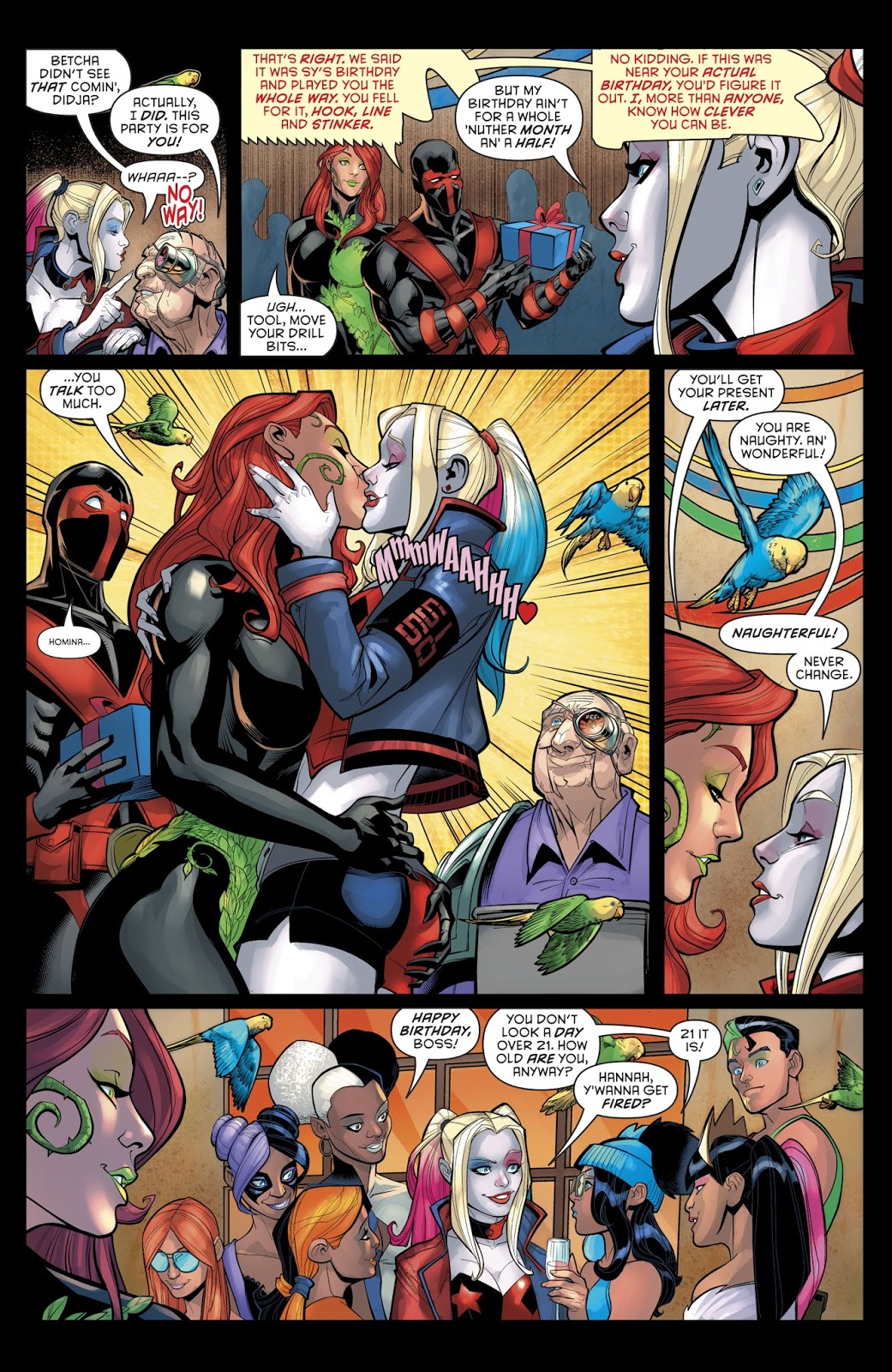 Harley Quinn And Poison Ivy Kiss (Rebirth)
