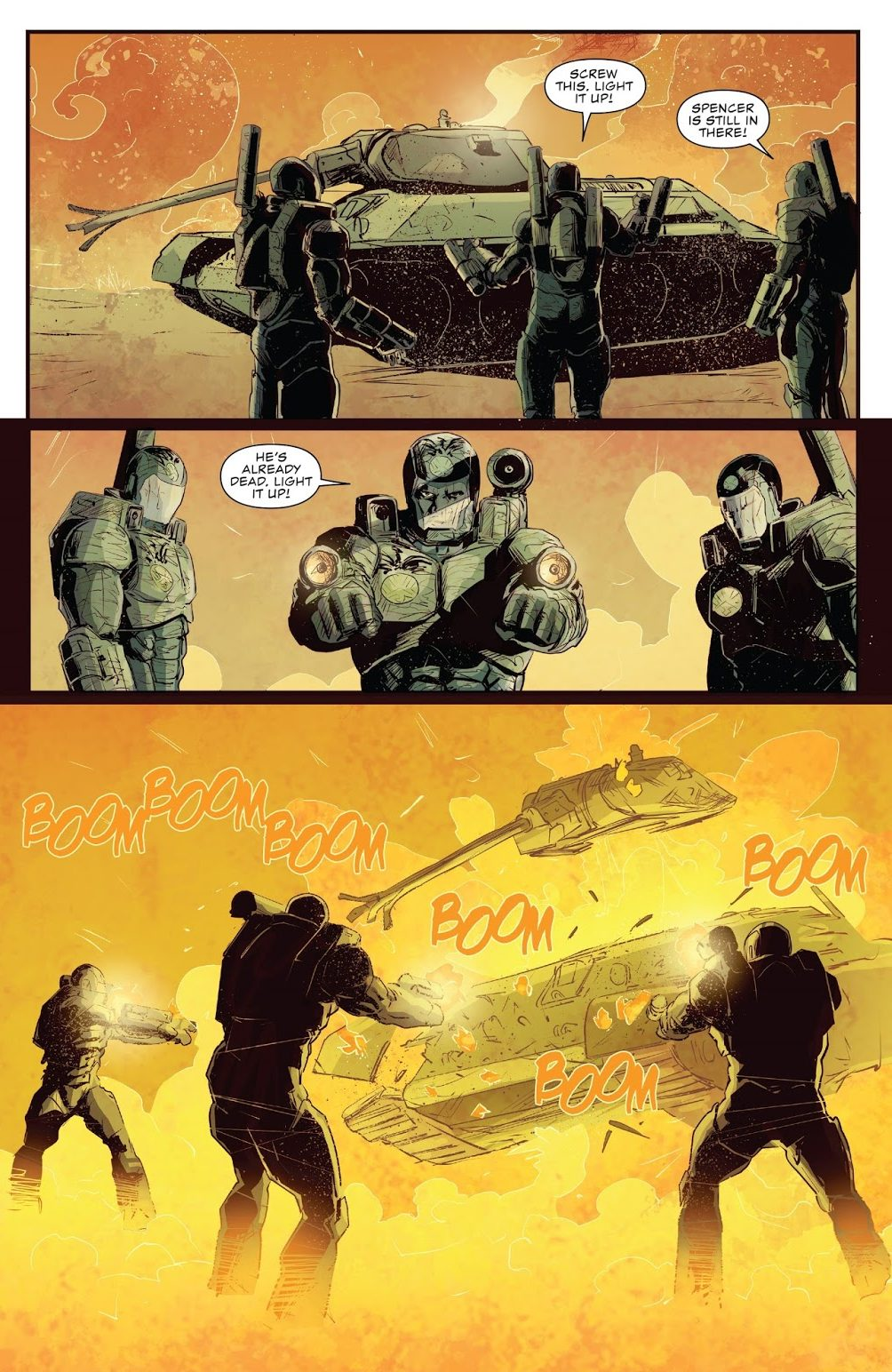 How War Machine Punisher Used A Tank