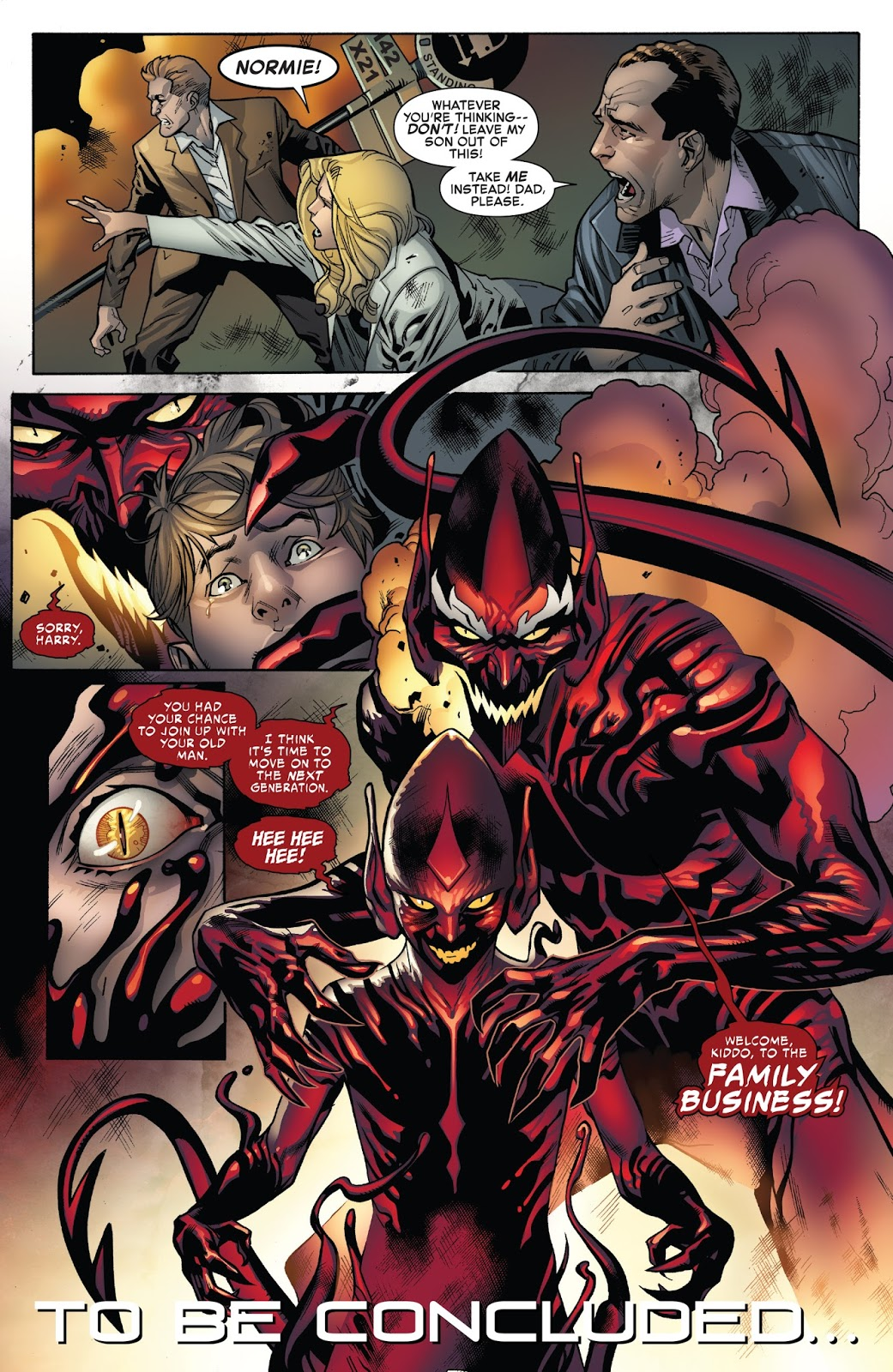 Normie Osborn Bonds With The Carnage Symbiote