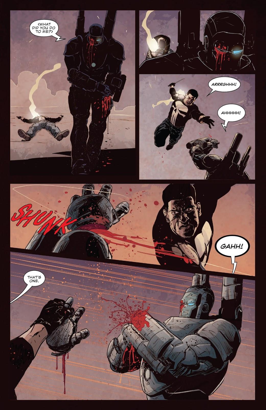 The Punisher VS A War Machine Armor