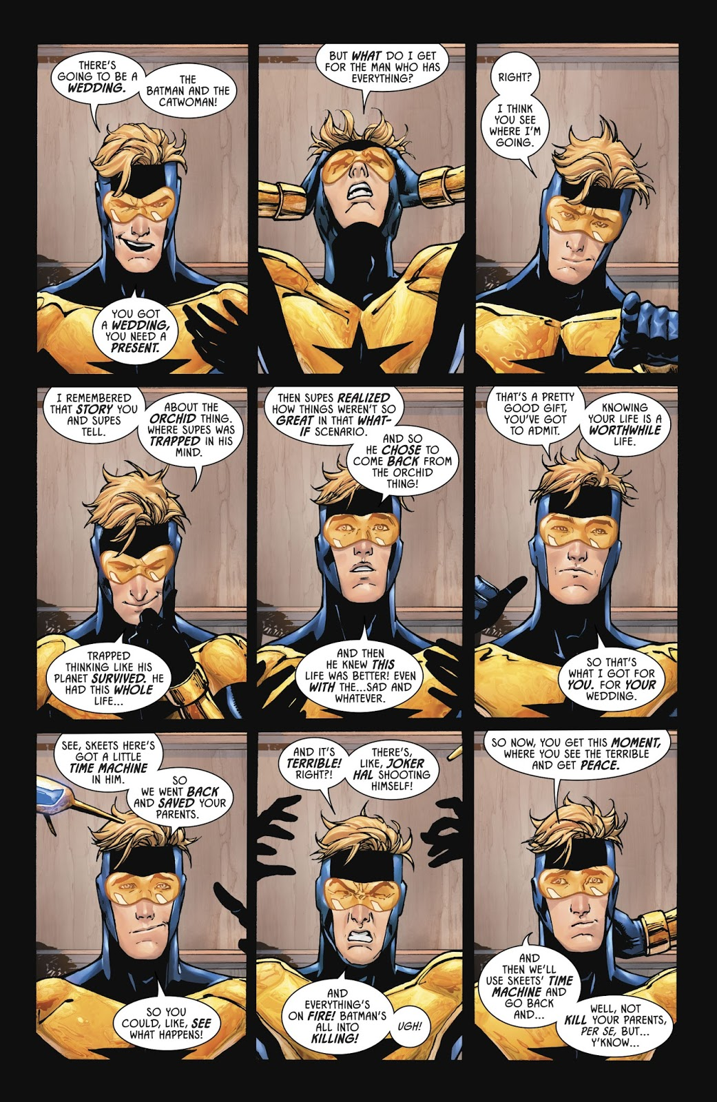 Booster Gold's Wedding Gift To Batman