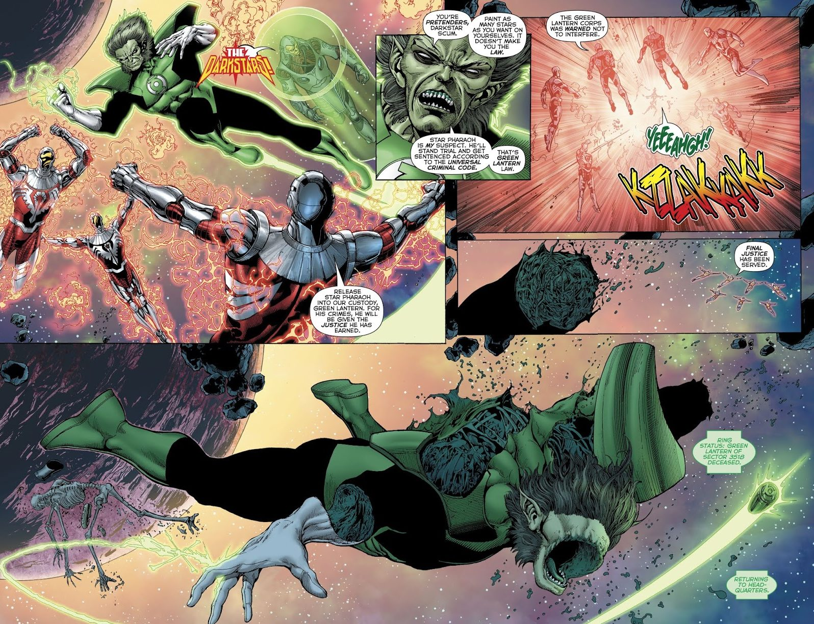 Darkstars Kill Green Lantern Weggett