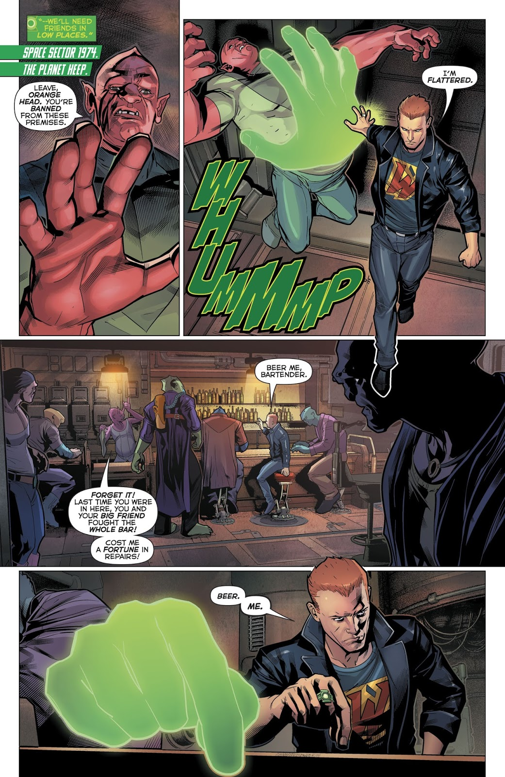 Guy Gardner And Arkillo Have A Monthly Drinking Session