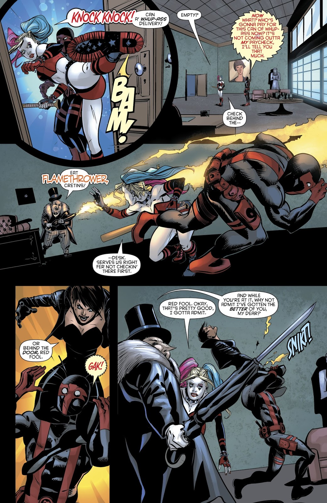 Harley Quinn Beats Up The Penguin