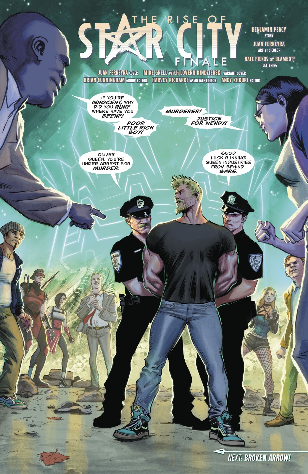 Oliver Queen Is Arrested (Rebirth)