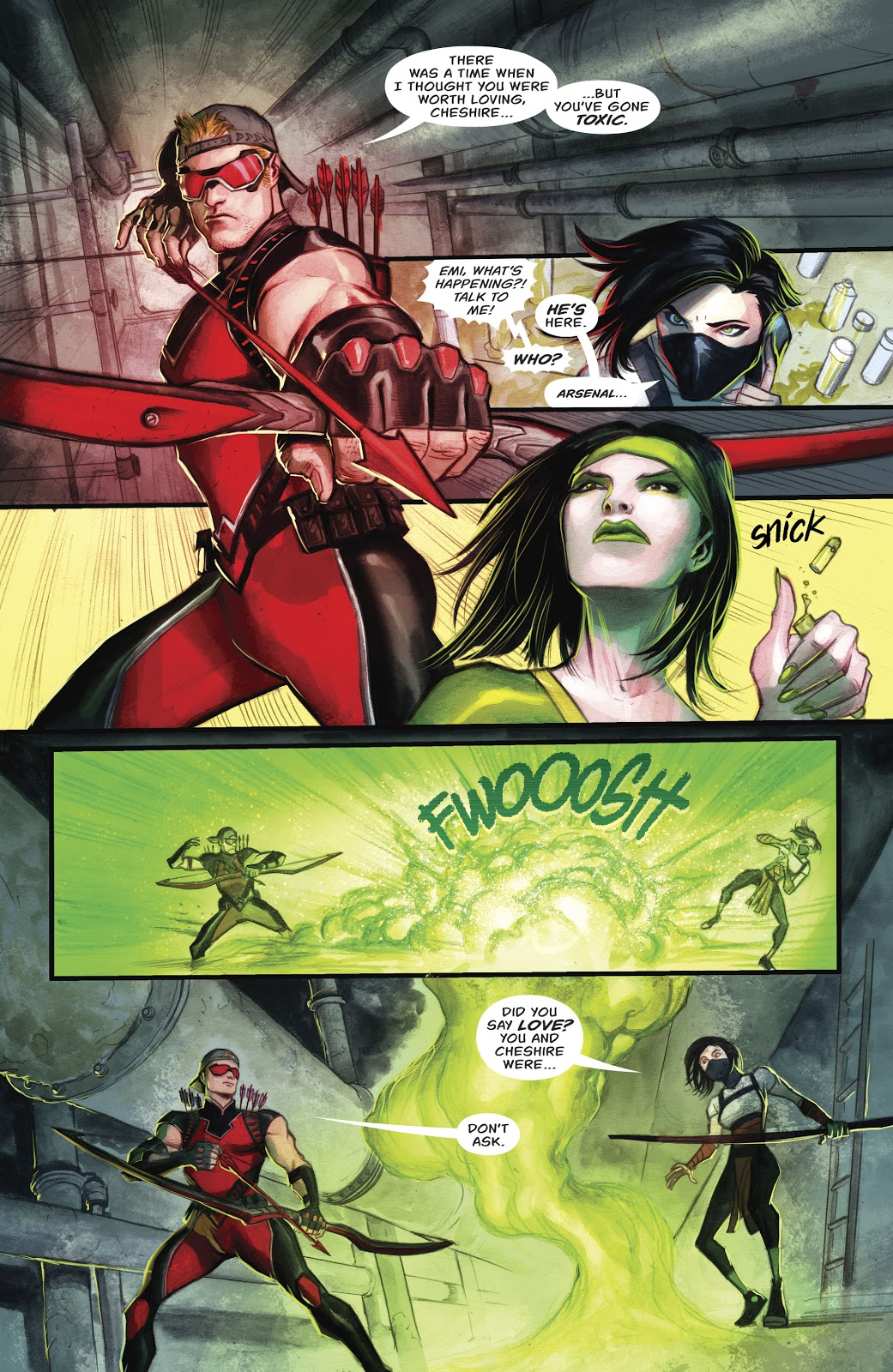 Red Arrow (Emiko Queen) VS Cheshire