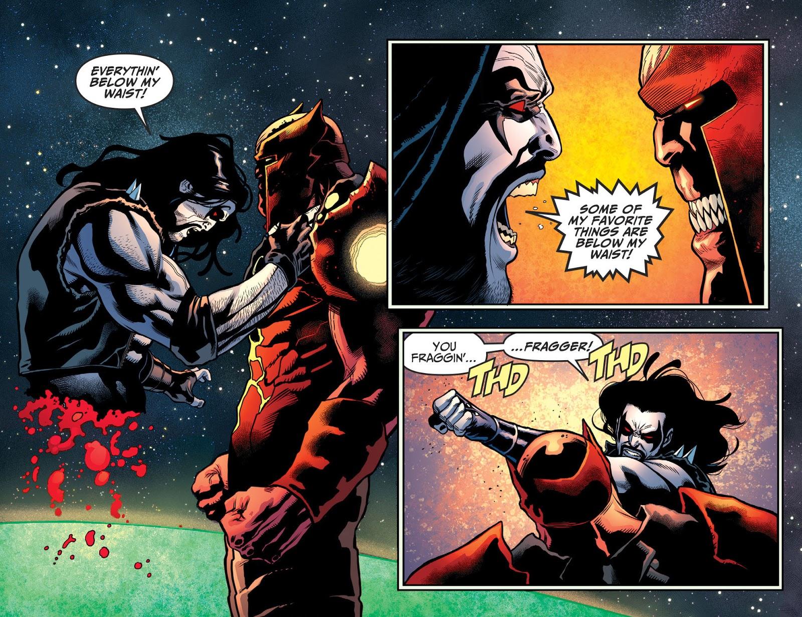 Atrocitus Cuts Lobo In Half (Injustice II)