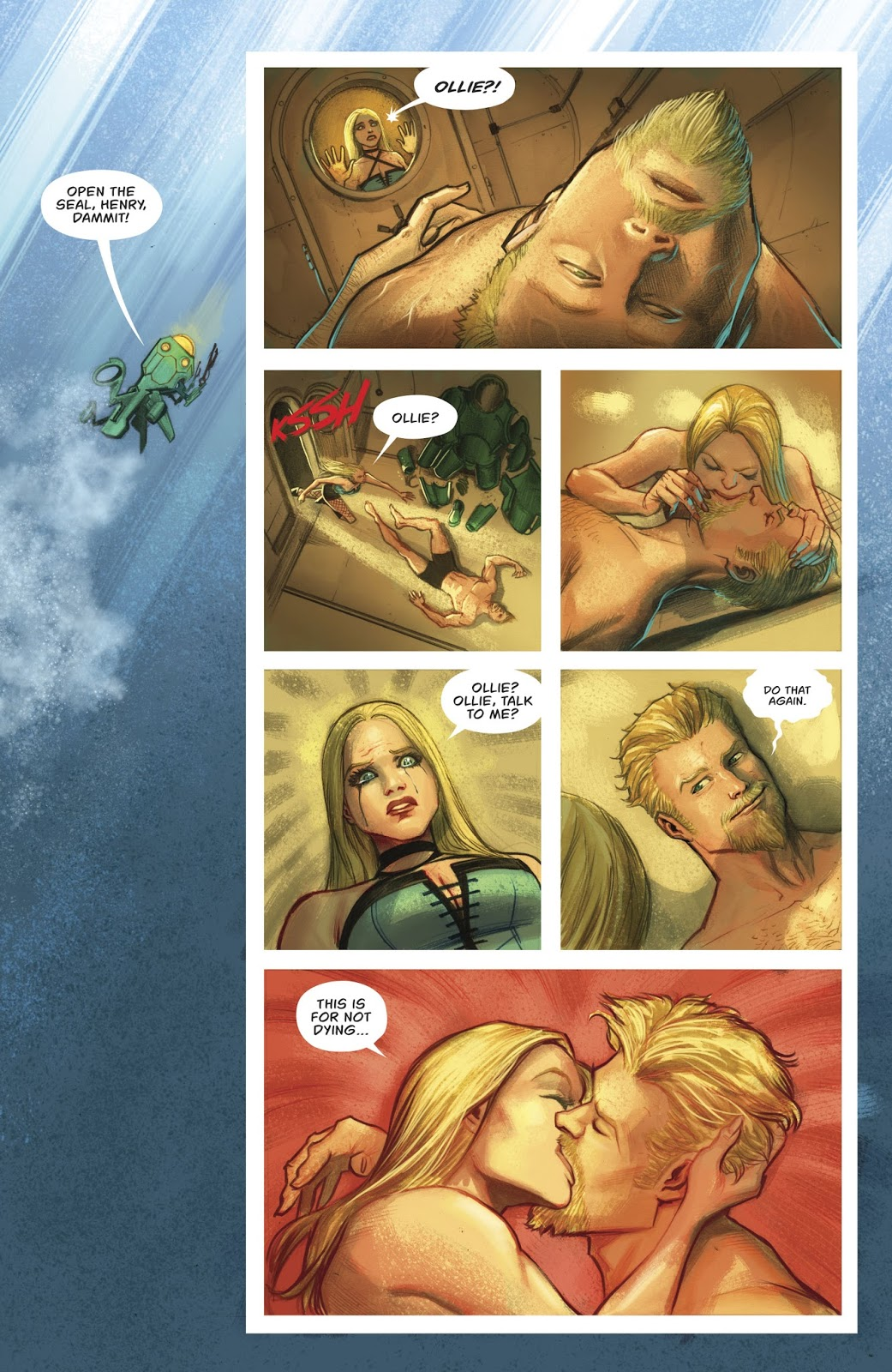 Black Canary Knees Green Arrow In The Groin (Rebirth)