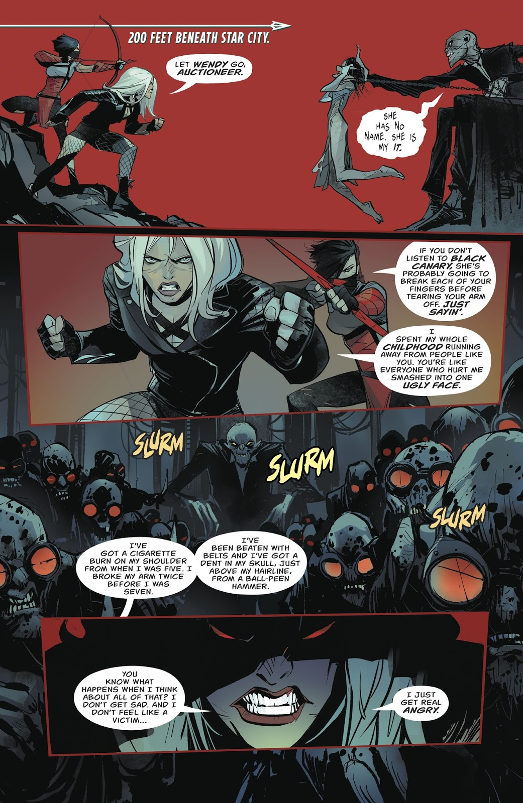 Black Canary VS The Auctioneer