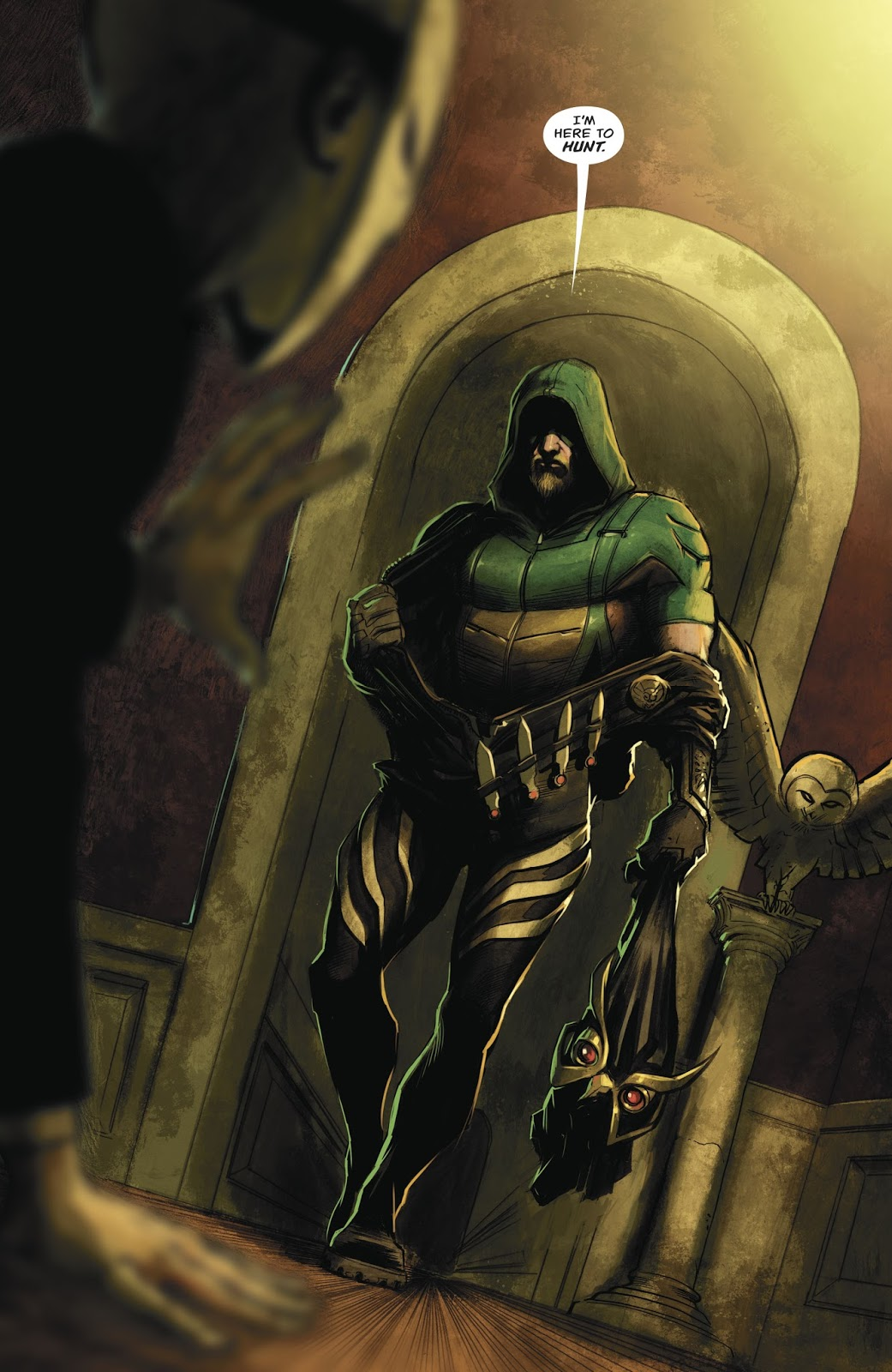 Green Arrow In A Talon Costume