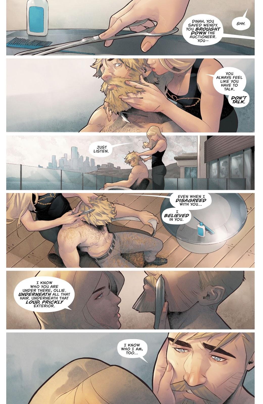 Green Arrow Says I Love You To Black Canary (Rebirth)