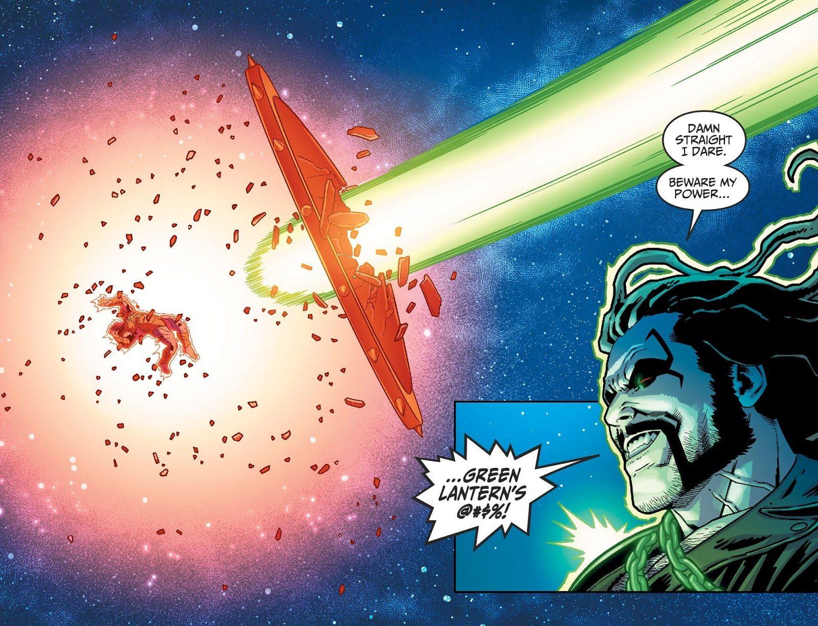 Green Lantern Lobo Hits Atrocitus With A Giant Dildo (Injustice II)