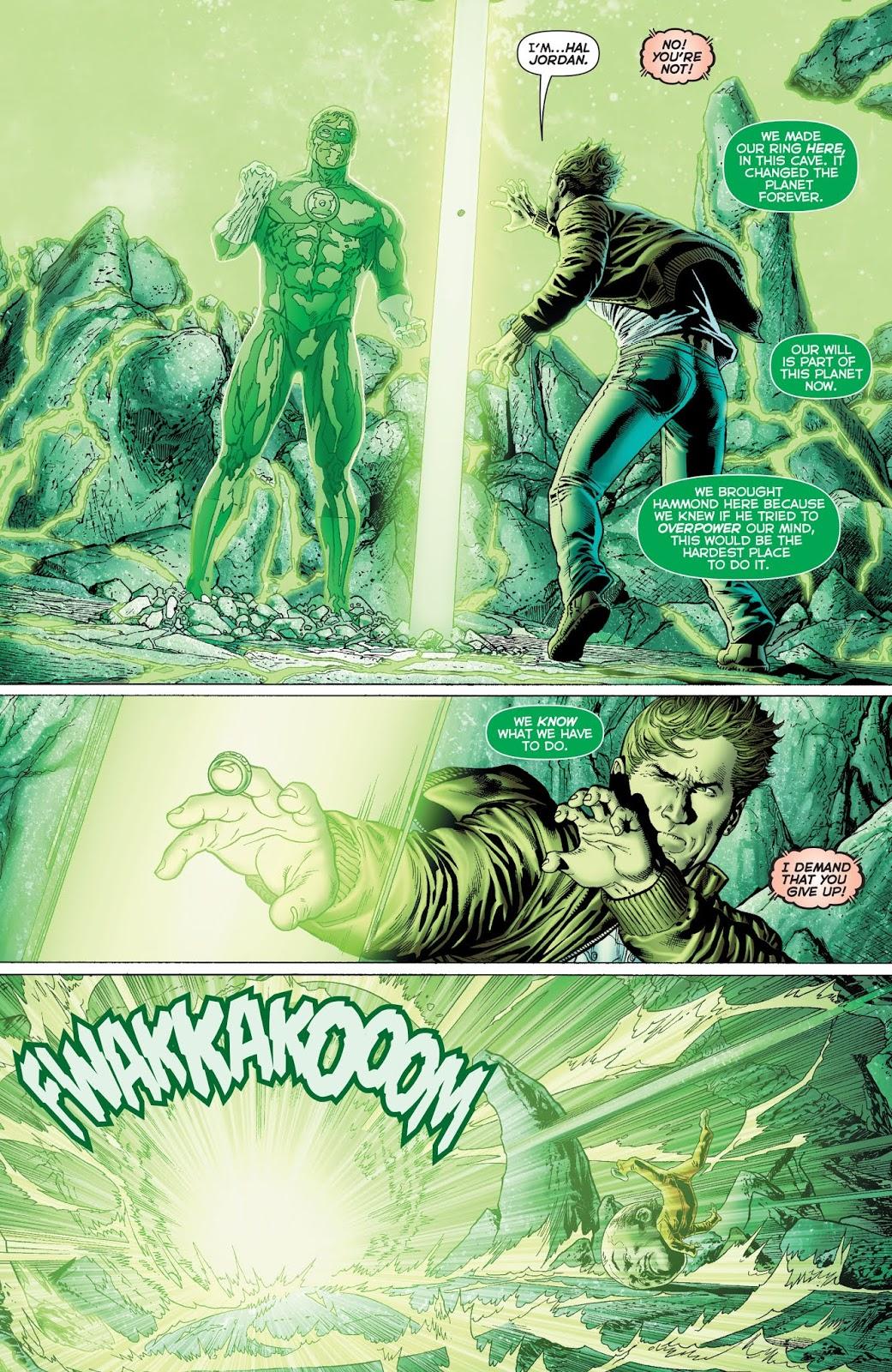 Hal Jordan Beats Hector Hammond's Mind Control Power