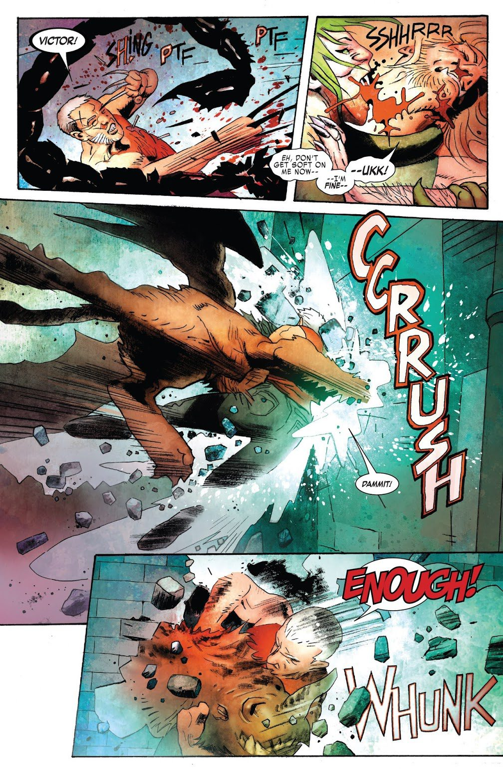 Old Man Logan And Sabretooth VS Olympian Monsters