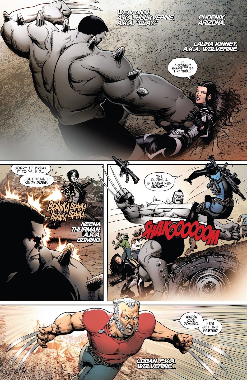 Old Man Logan VS Hulkverine
