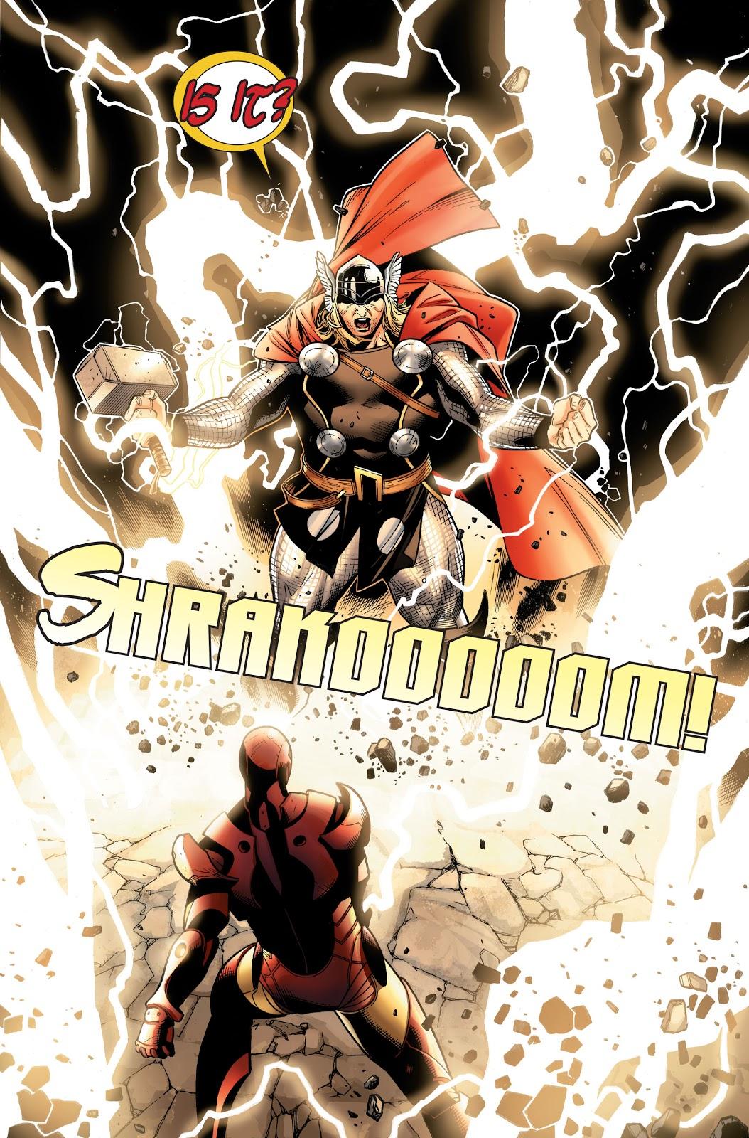 Thor VS Iron Man (Post-Civil War)