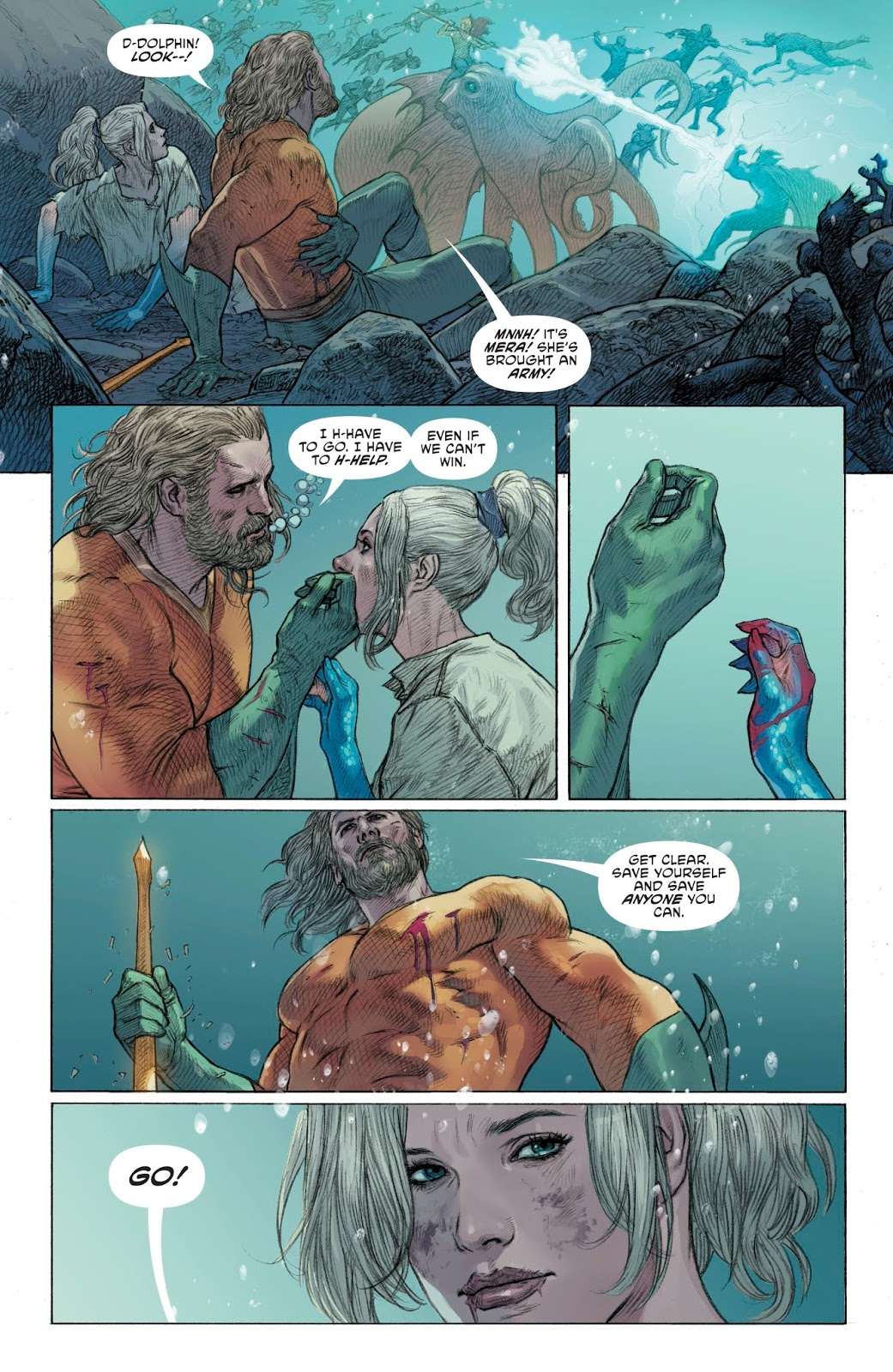 Aquaman And Mera VS Corum Rath