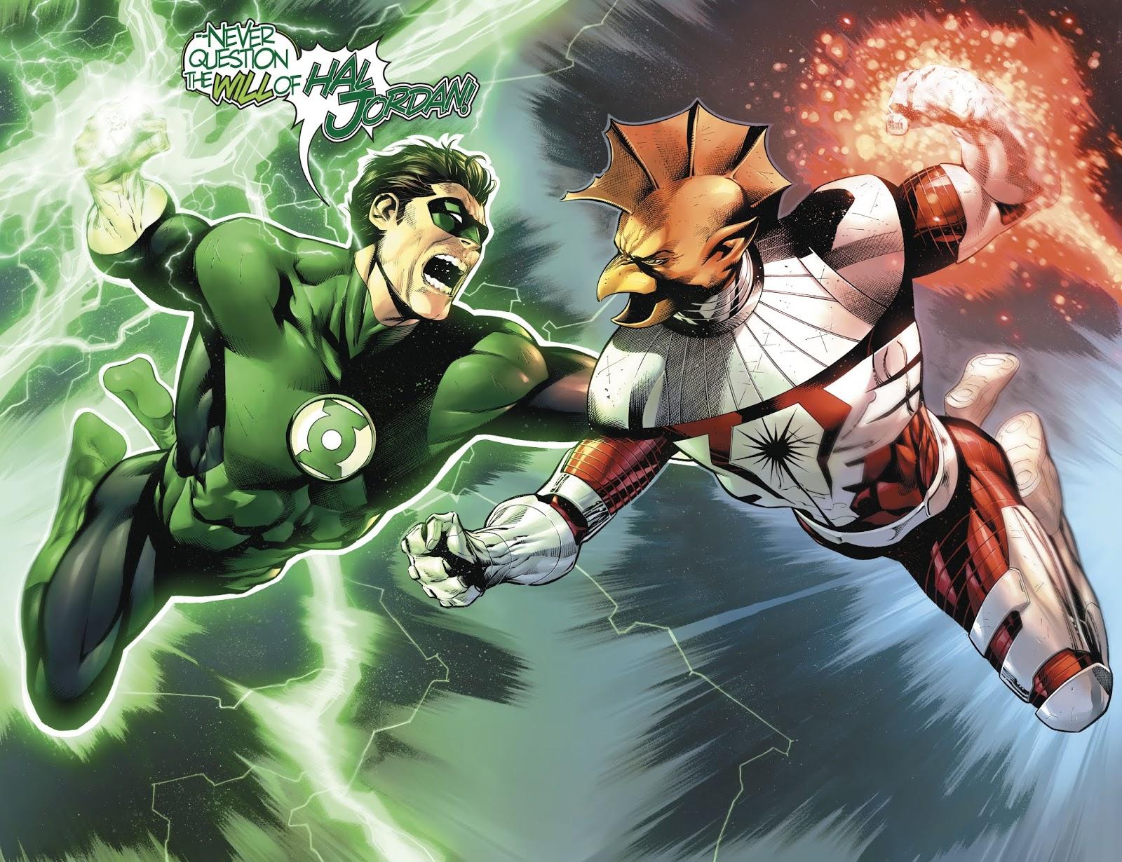 Green Lantern Hal Jordan And Darkstar Tomar-Tu