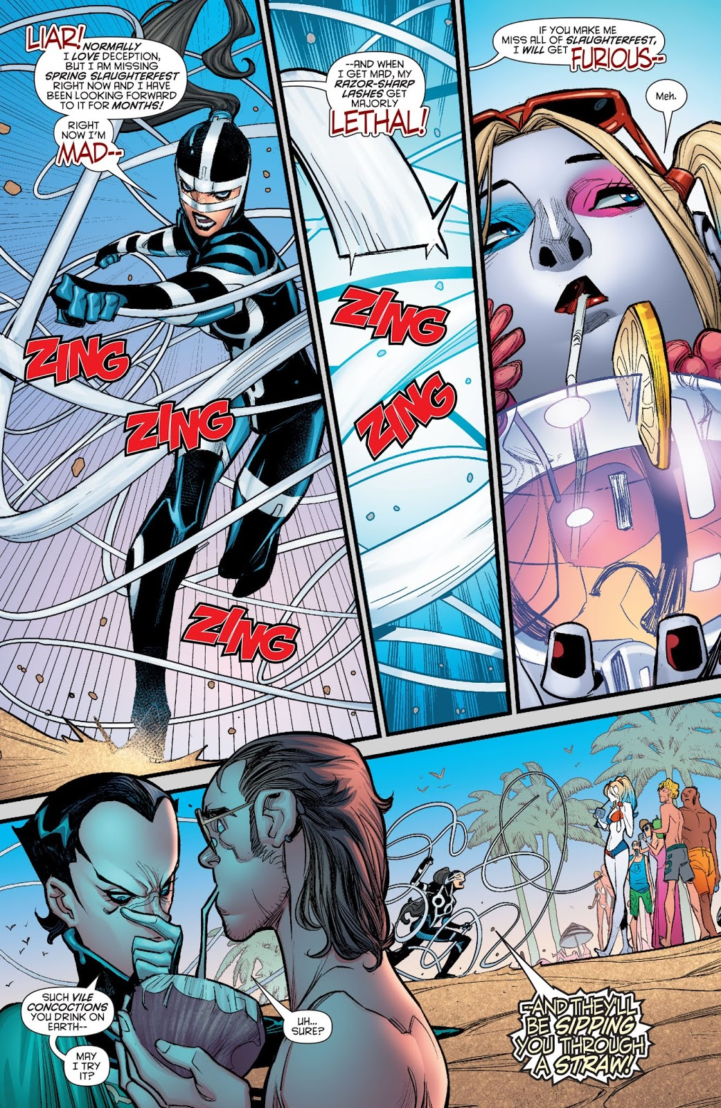 Harley Quinn VS Lashina And Bernadeth