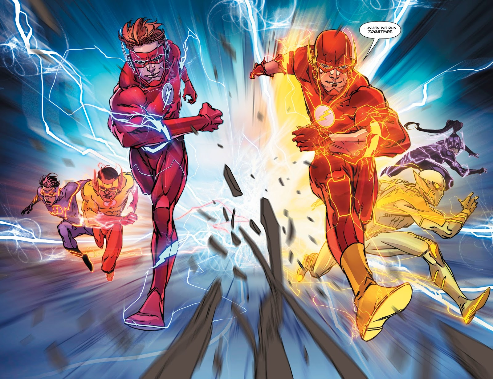 The Flash Family Runs Against A Negative Speed Force Storm