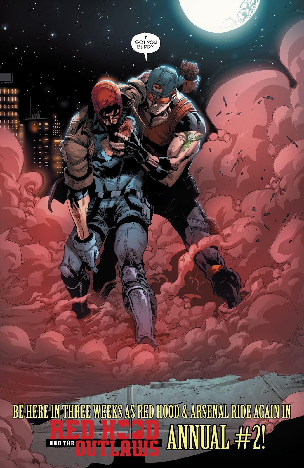Arsenal Saves Red Hood From Batman