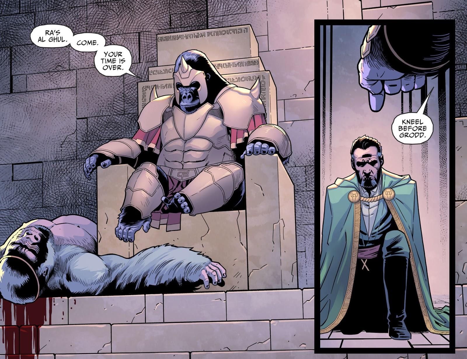 Gorilla Grodd Kills Ra's Al Ghul (Injustice II)