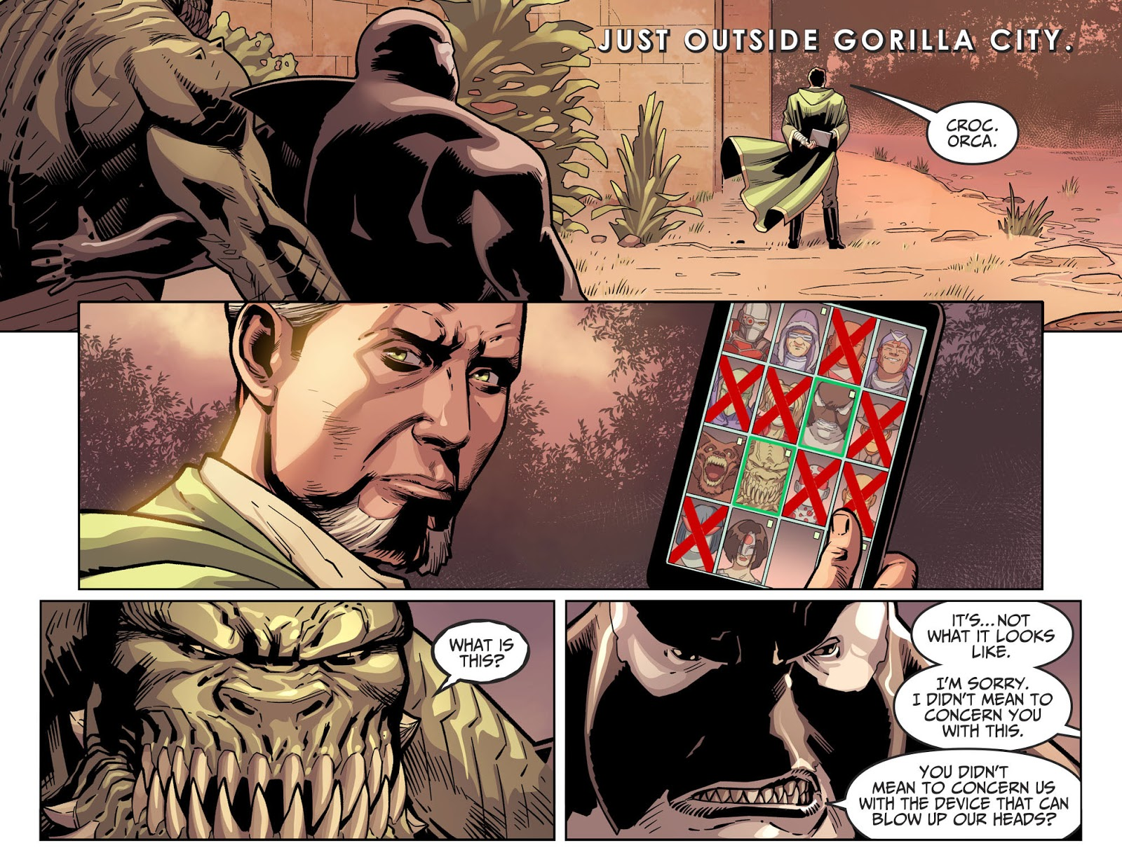 Killer Croc Bites Off Ra's Al Ghul's Hand (Injustice II)