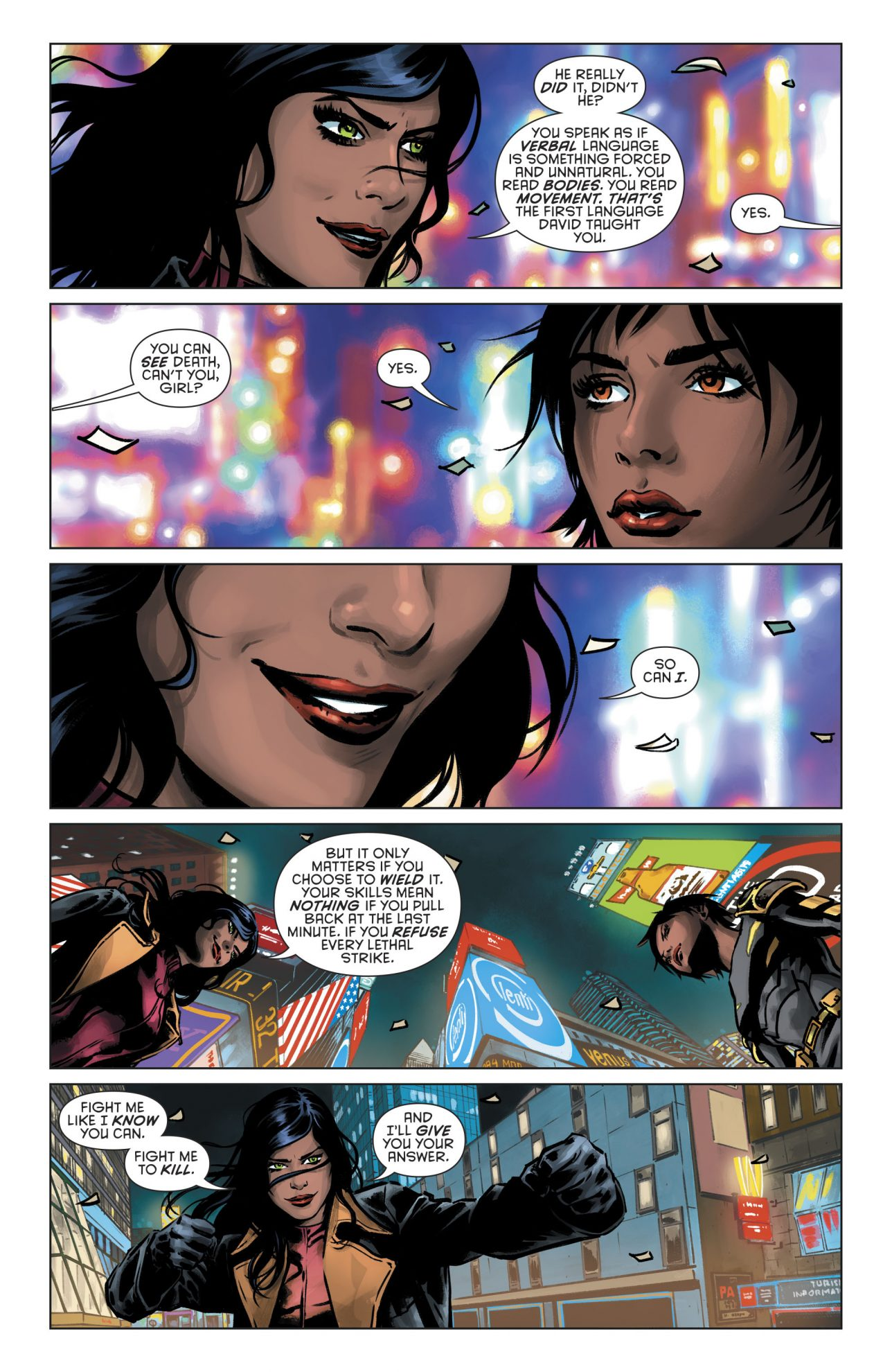 Lady Shiva Beats Up Cassandra Cain (Rebirth)