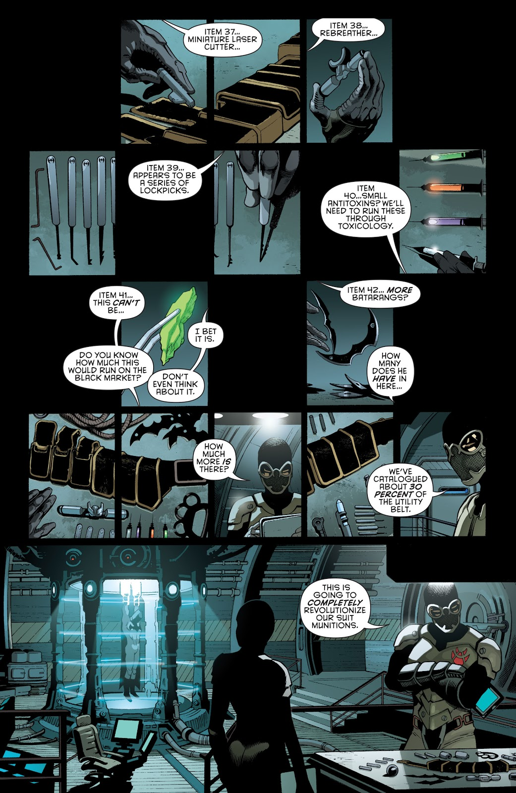 The Contents Of Batman's Utility Belt