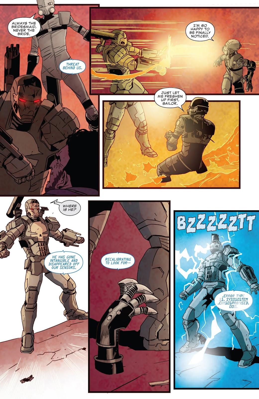 War Machine Punisher VS Crossbones, Taskmaster And Ghost