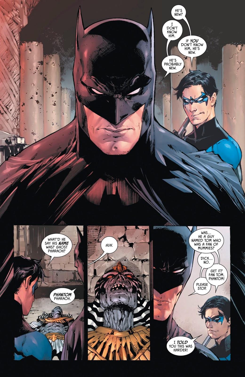 Batman And Nightwing VS Mummies