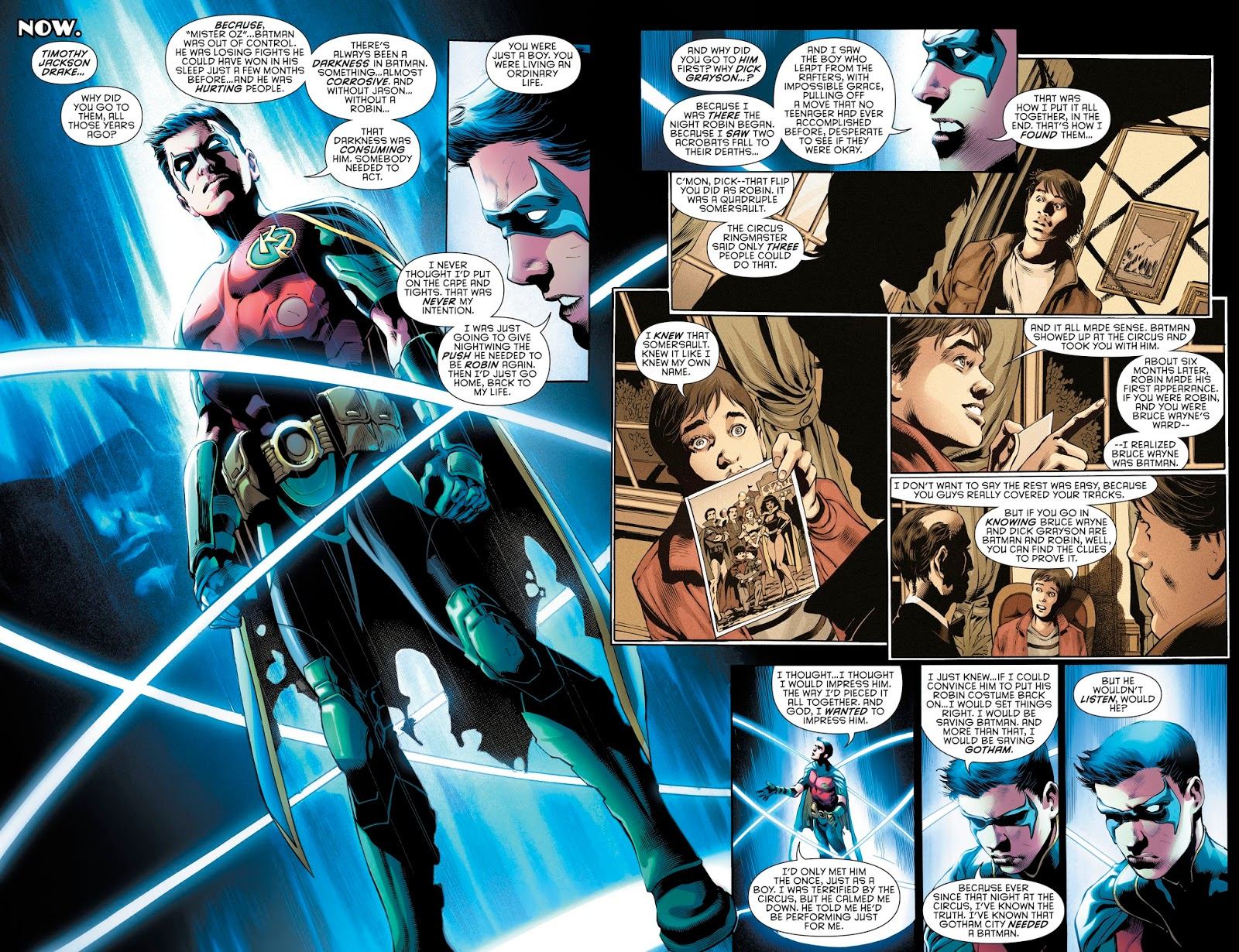 Dick Grayson And Tim Drake's First Meeting (Rebirth)