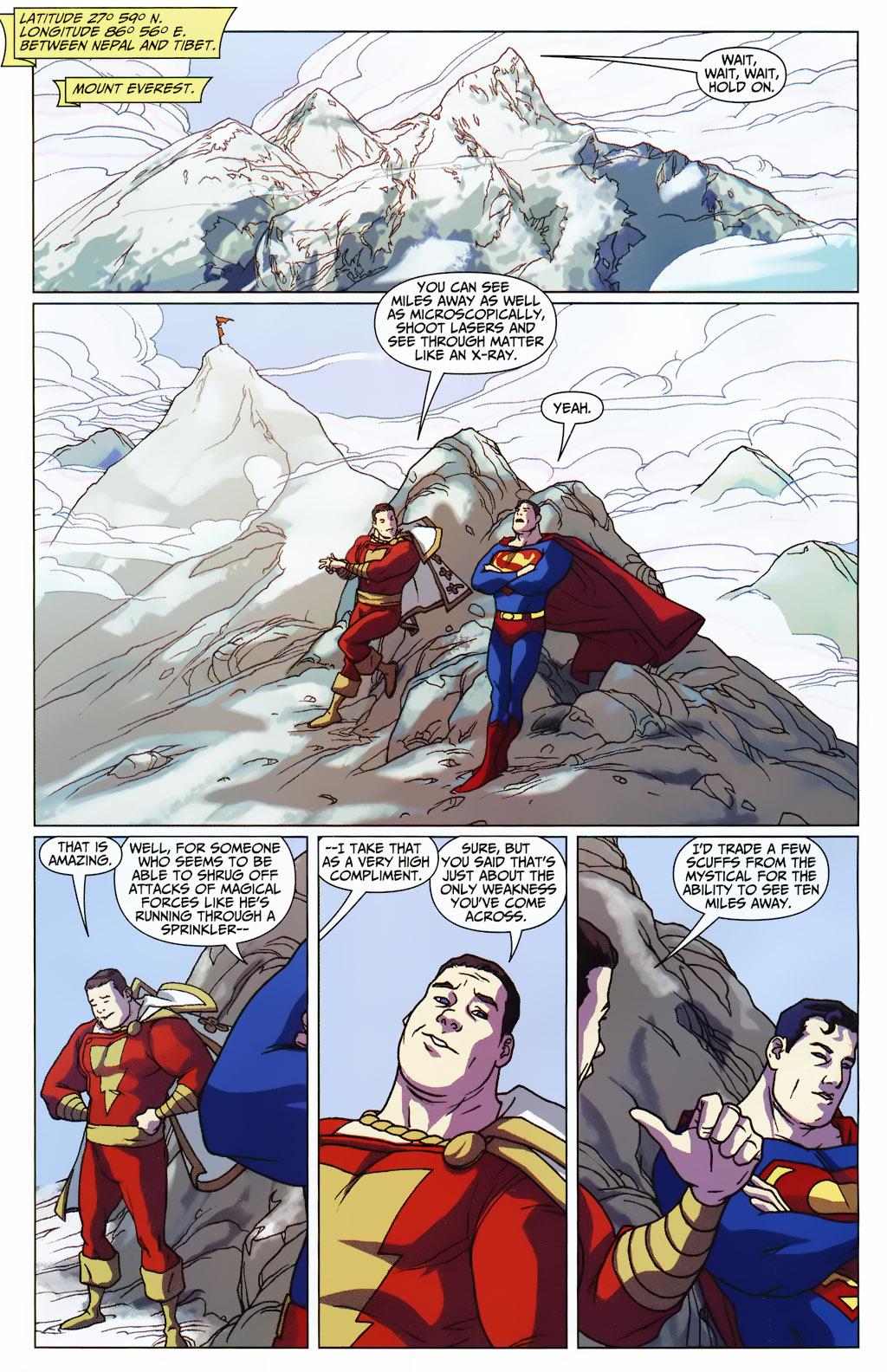 Superman And Captain Marvel Bonding At Mt. Everest