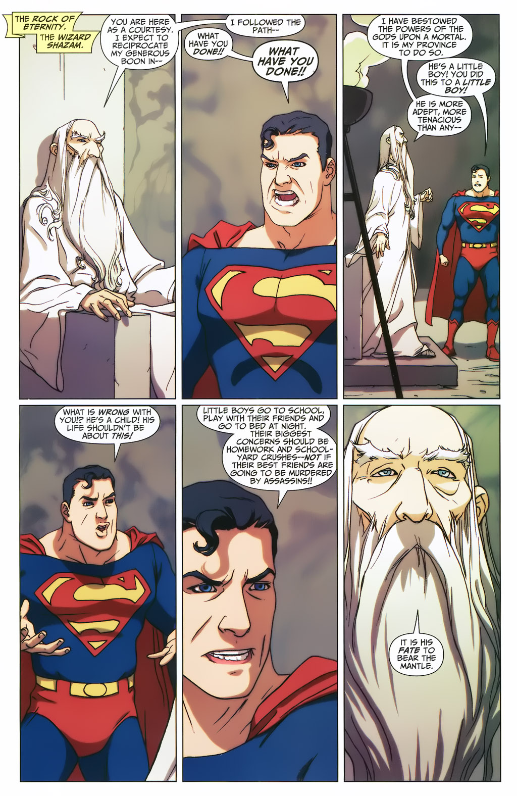 Superman Confronts The Wizard Shazam (First Thunder)