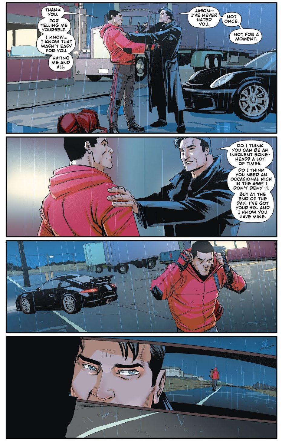 Bruce Wayne And Jason Todd Bury The Hatchet (Rebirth)