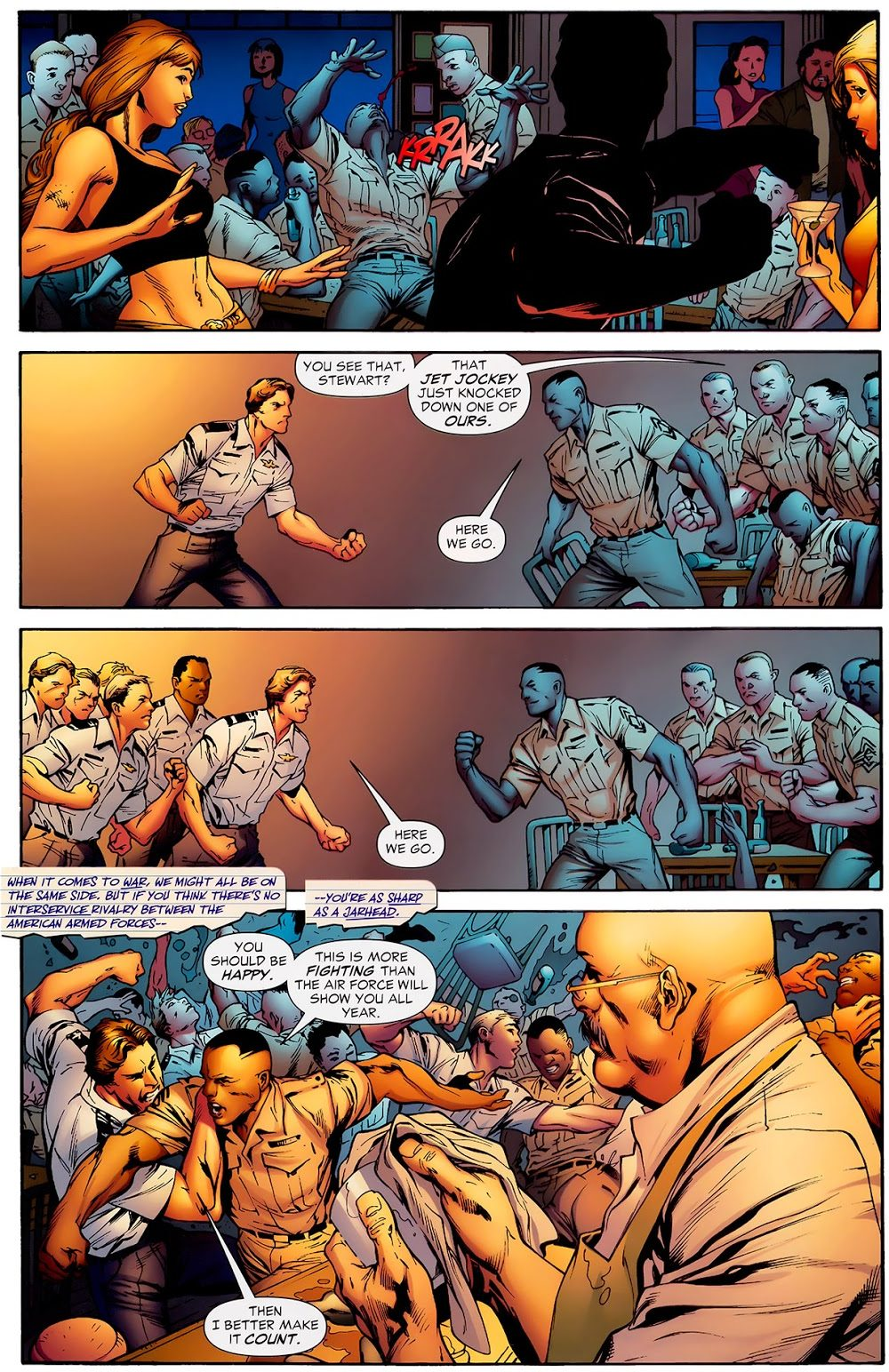 Hal Jordan And John Stewart Fist Fight (Secret Origins)