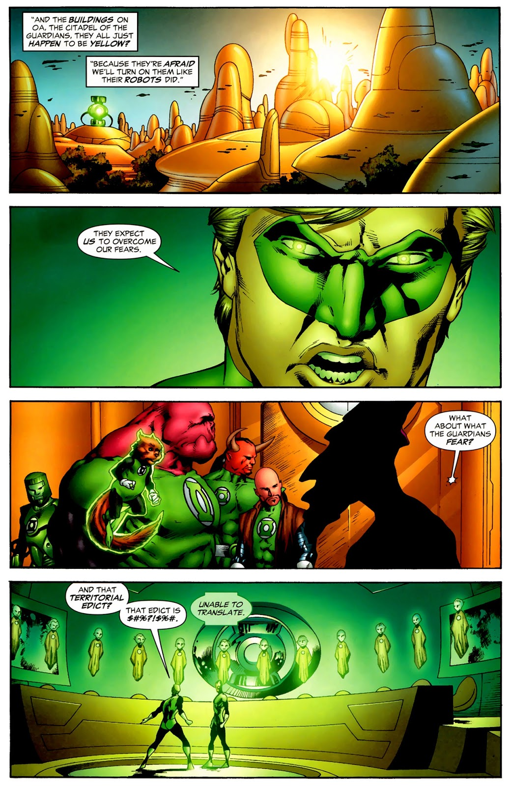 Hal Jordan's First Meeting With The Guardians Of The Universe (Secret Origin)