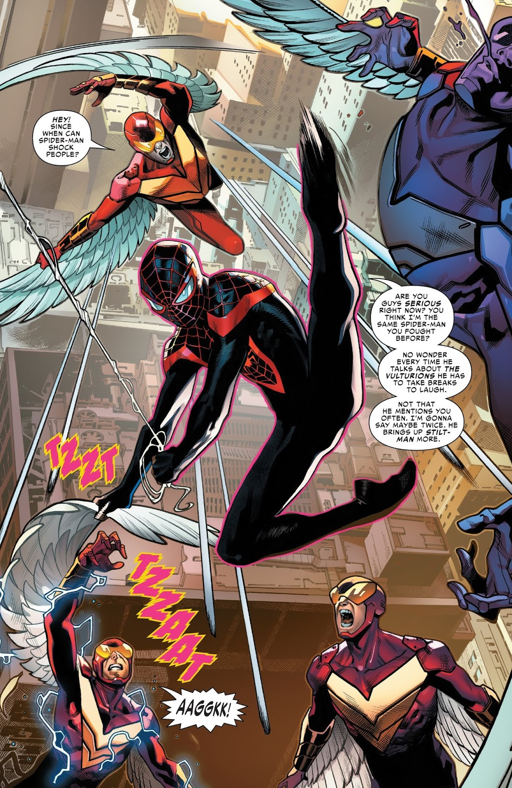 Spider-Man Miles Morales VS The Vulturions