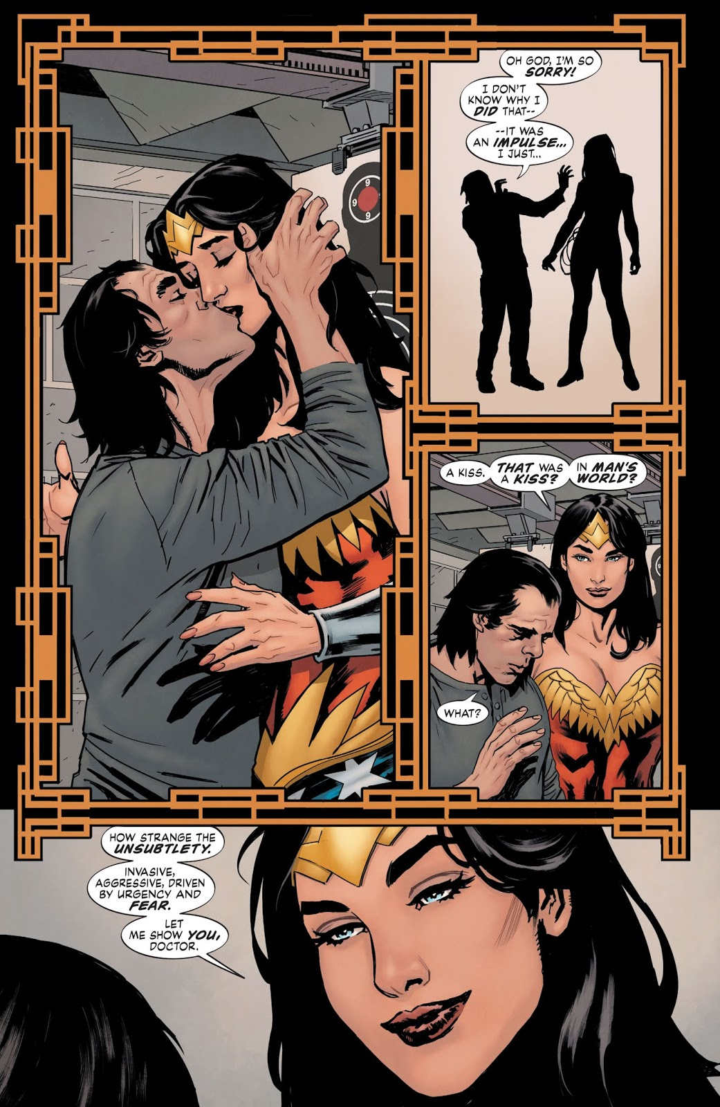 Wonder Woman Kisses Doctor Psycho (Earth One)