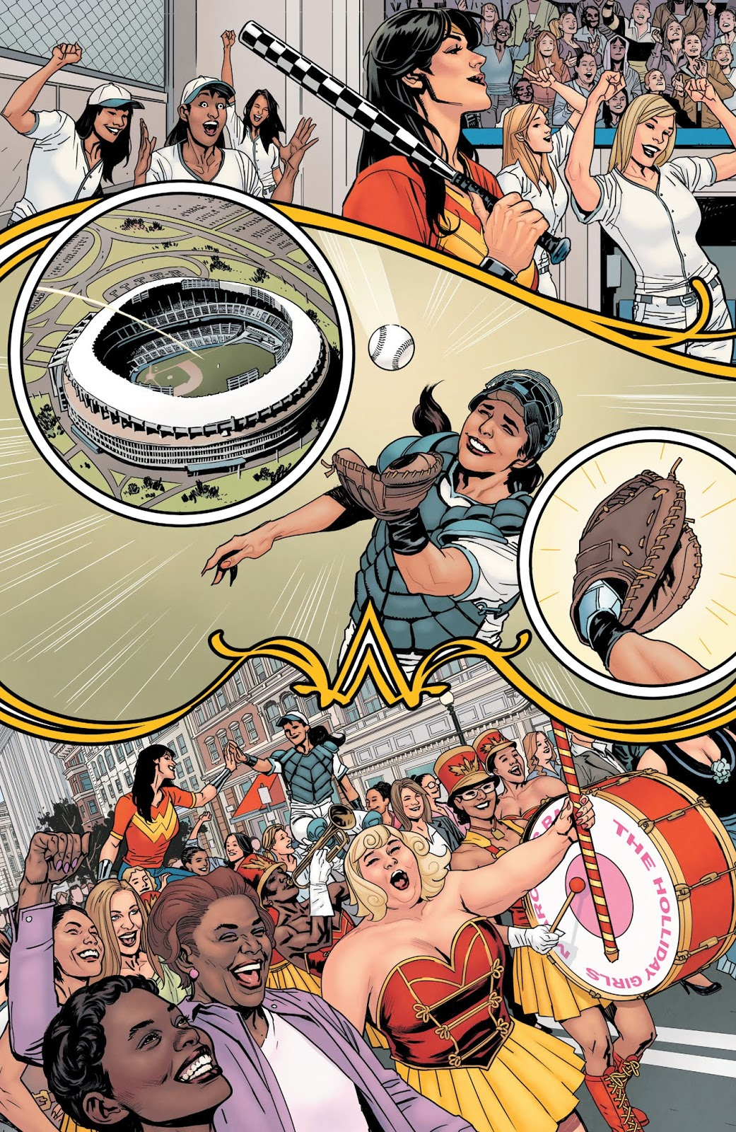 Wonder Woman Playing Baseball (Earth One) 2