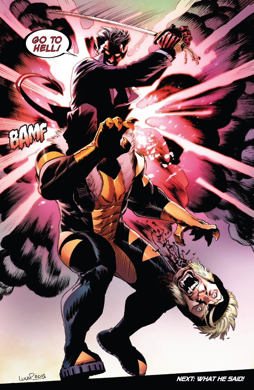 Azazel Kills Sabretooth