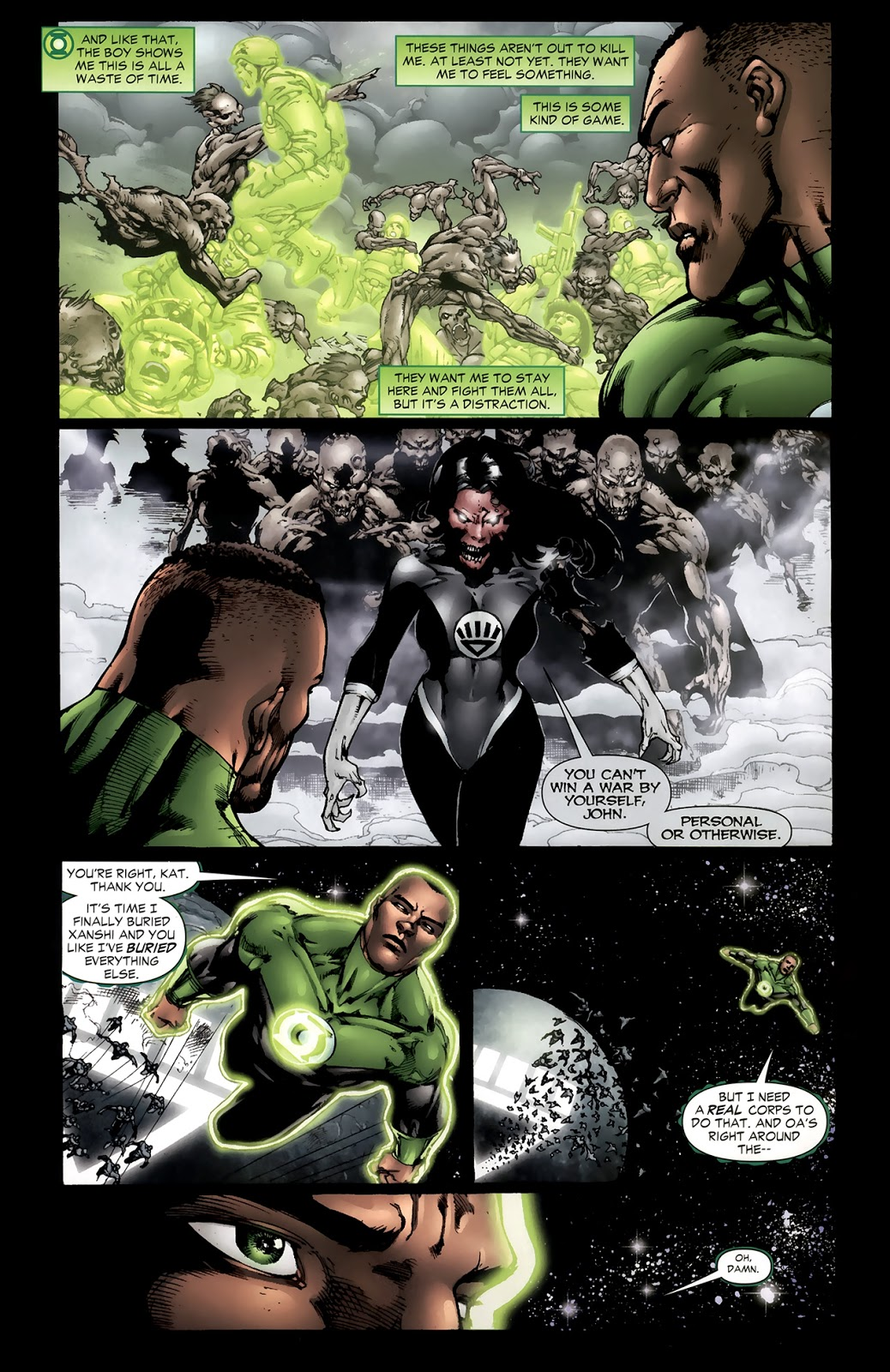 Green Lantern John Stewart VS Black Lanterns