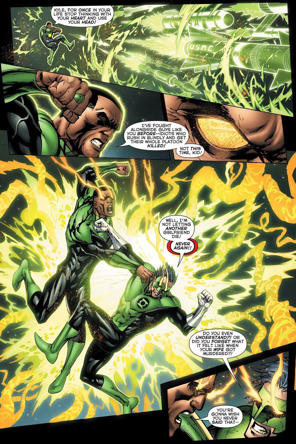Green Lantern Kyle Rayner VS Green Lantern John Stewart